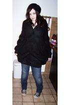 Tally Weijl coat - H&M dress - H&M jacket - Ebay belt