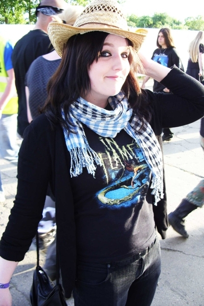 borrowed from a guy there hat - In Flames shirt - H&M scarf - Mango jacket - zoo