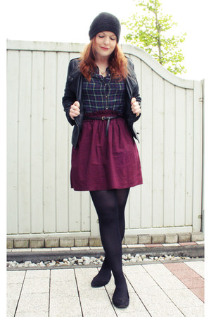 navy Primark shirt - maroon H&M skirt - light brown asos necklace