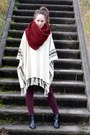 Zara-shoes-hema-scarf-topshop-pants-fringed-poncho-h-m-cape