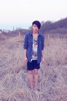 H&M shirt - Peek & Cloppenburg shorts - Black Book t-shirt