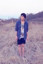 H&M shirt - Peek & Cloppenburg shorts - Black Book t-shirt