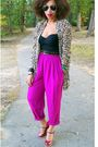 Black-forever-21-top-purple-secondhand-red-pink-duchess-shoes-brown-h-m-