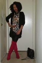 boots - purse - skirt - Ralph Lauren top