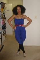 dress - DIY belt - kensie stockings - Promise shoes - accessories