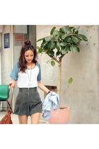gray American Apparel shorts - white Goodwill shirt - black Alexander Wang shoes