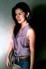 Topshop-shorts-forever-21-blouse-vintage-from-mom-belt