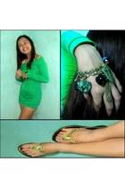bracelet - dress - sandals