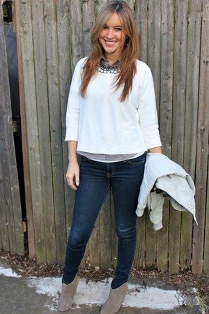 Carlos Santana boots - 7 for all mankind jeans - Forever 21 sweater - H&M shirt