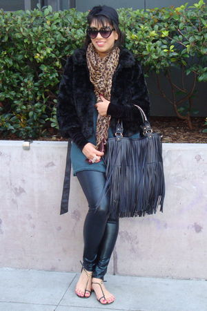 Nine West shoes - Aldo Accessories leggings - Zara top - Zara cardigan - H&M sca
