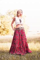 vintage skirt - vintage top