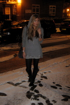 silver All Saints sweater