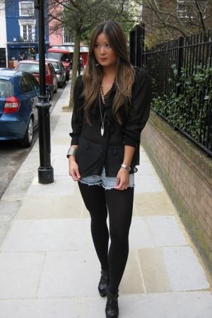 Zara blouse - Topshop shorts