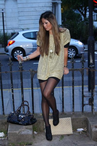 gold dvf dress