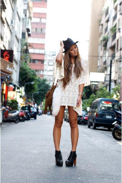 cream LF dress