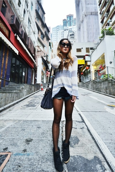 bec &amp; bridge sweater - Alexander Wang bag - One Teaspoon shorts