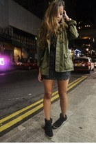 Aje dress - maison scotch coat - Topshop sneakers