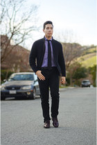 purple  white Pierre Cardin shirt - Levis pants