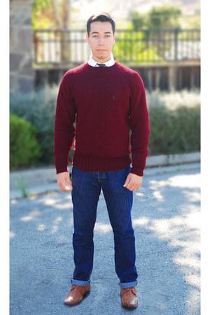 dark red Ralph Lauren sweater