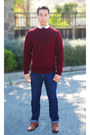 Dark-red-ralph-lauren-sweater