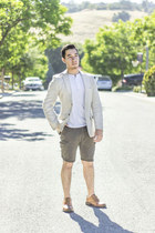 beige H&M blazer - khaki Target shorts