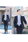 Puccini-tie-charcoal-perry-ellis-suit