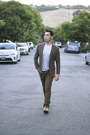 Steve-madden-shoes-twill-brown-j-crew-blazer-white-puma-shirt-olive-pants