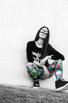 Boy London sweater - PCP leggings - Wize and Ope sunglasses - milanoo sneakers