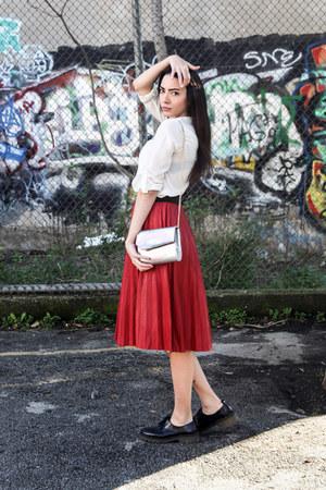 midi milanoo skirt - bluchers Bershka shoes - Stradivarius shirt