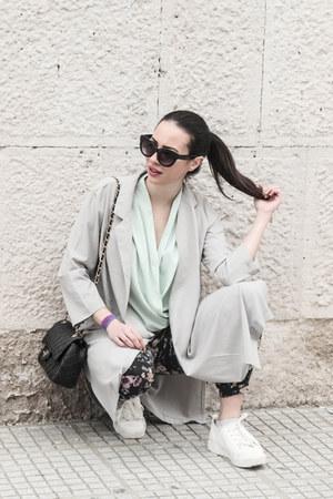 shirt UNIQUE21 shirt - long AX Paris jacket - leather Chanel bag