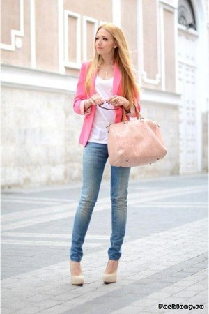 bubble gum Pull & Bear jacket