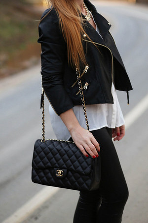black Chanel bag