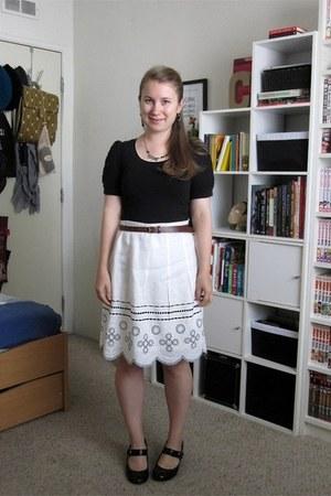 Loft skirt - Forever 21 top - Payless heels
