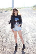 black River Island jacket - black Jeffrey Campbell boots - vintage shirt
