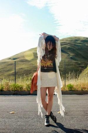 vintage t-shirt - spell cardigan - H&M skirt