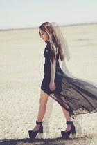 black UNIF godspeed dress - black UNIF marychains heels