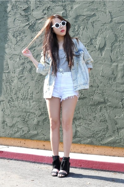 Nasty Gal jacket - Nasty Gal shorts - Nasty Gal heels