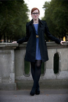 Burberry coat - H&M dress - H&M tights - Tango heels - H&M necklace
