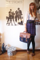 H&M shirt - H&M skirt - H&M belt - Calzedonia stockings - Wicked Plum Vintage sh