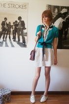 Zara dress - H&M jacket - thrifted express belt - vintage eBay accessories - aso