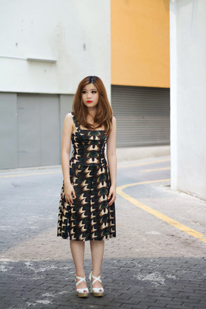 Mango dress - Charles & Keith heels