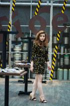 floral print Zara dress - Amori heels - Forever 21 bracelet