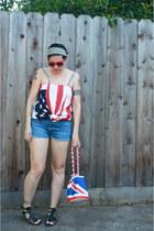 Butt Ugly bag - navy shorts - Butt Ugly top - black sandals