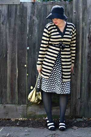 bloomingdales cardigan - dress - Leathers by Ann bag