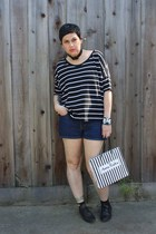 black Aldo shoes - black Target shirt - navy Ralph Lauren shorts