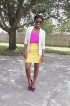 thrifted blazer - Forever 21 skirt - BCBGeneration heels