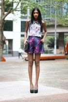 purple asoscom shorts - light purple warehouse blouse