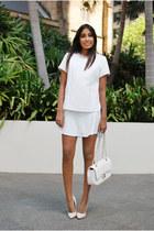 shell top Zara top - fluted skirt Glassons skirt