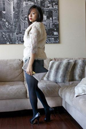H&M vest - asos bag - H&M shorts - Charlotte Russe top - Enzo Angiolini heels