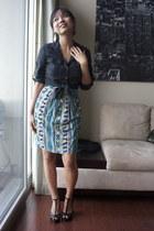 Forever 21 dress - The Limited blouse - Aldo pumps